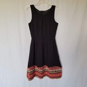 BCBGMaxAzria black embroidered sleeveless dress